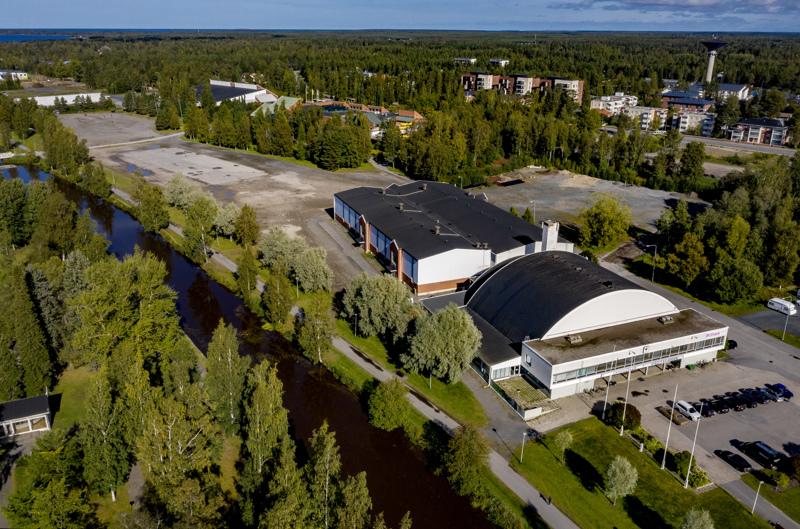 Urheilu- ja tapahtumapuistokokonaisuutta suunnitellaan nykyisen urheilutalon alueelle.