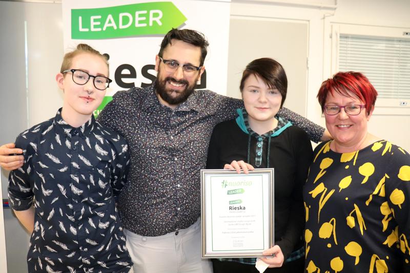 Escape Room palkittiin Rieska-Leaderin Vuoden 2017 Nuoriso Leader -projektina.