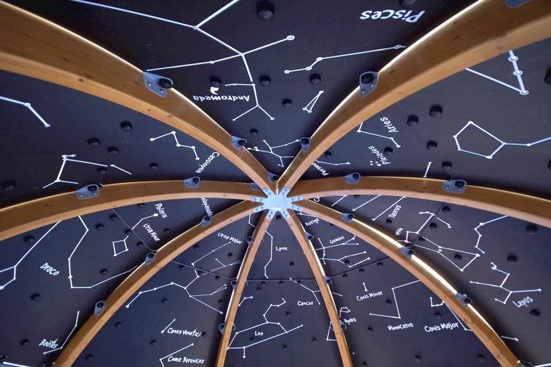 Planetaarion sisällä voi ihailla tähtikuvioita.
