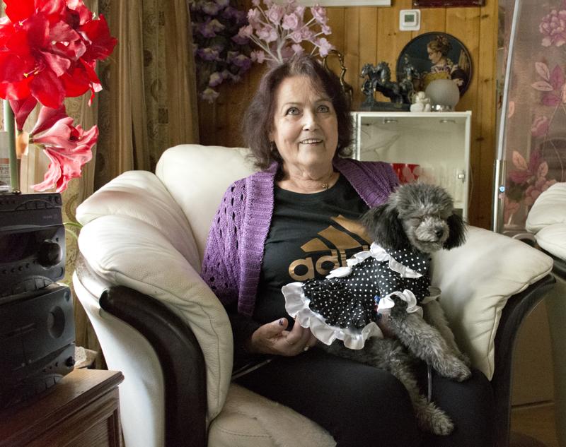 Teeveestä tutun Ransu-koiran näköinen Sissi on päivien piristys Ailalle.