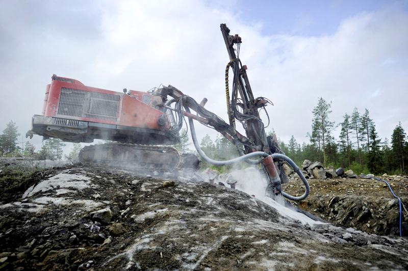 Keliber valmistautuu louhinnan alkamiseen Kaustisella. Kuva on kesältä 2016.