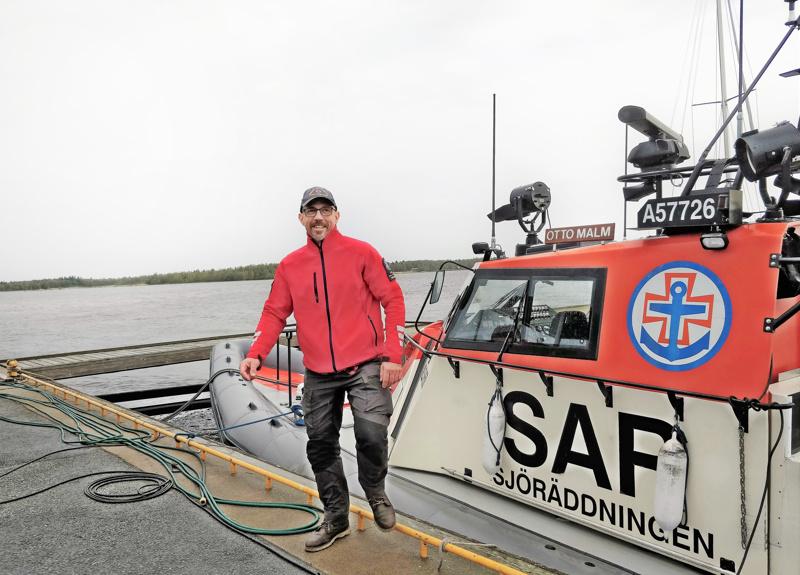 Joakim Saari on yksi Pietarsaaren meripelastajien kolmesta kipparista.