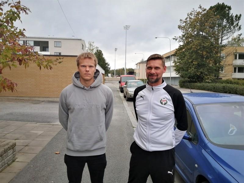 Severi Kähkönen ja Niklas Käcko ovat täynnä itseluottamusta perjantain suuren ottelun alla.