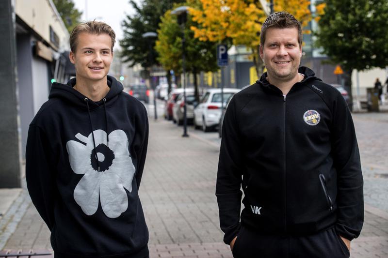 Samu Laitinen (vas.) ja Niko Kalliokoski lähtevät hakemaan KPV:lle kolmatta peräkkäistä voittoa, kun VPS vierailee lauantaina Kokkolassa.