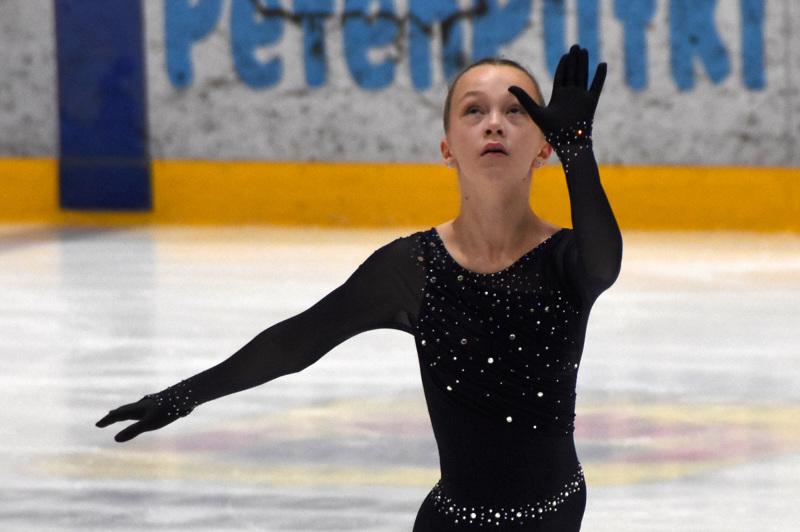 Adabella Pietilä otti lyhytohjelmassa kakkospaikan sarjassaan.