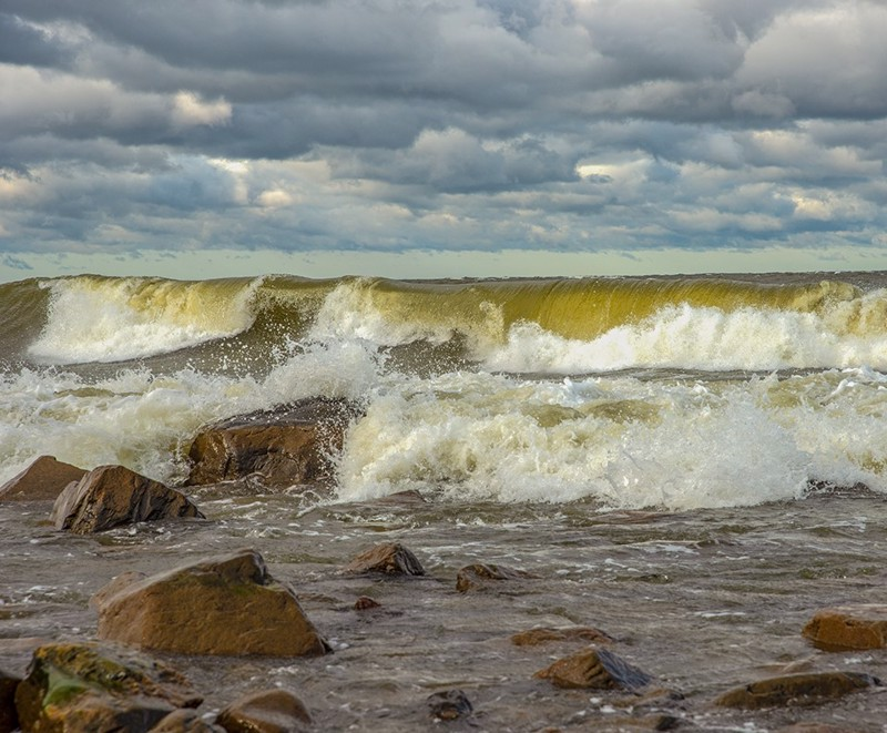 Aila-aaltoja Kalajoelta.
