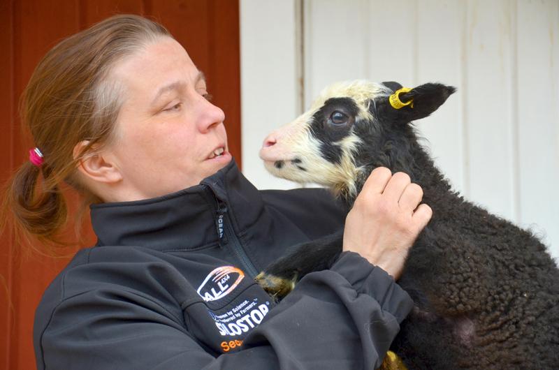 Satu Kumpulainen Isokummun lammastilalta kertoo tilaisuudessa omista kokemuksistaan Green care -palvelujen tuottajana.