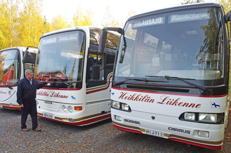 Heikkilän Liikenteellä on niin lahtelaista kuin lietolaistakin kalustoa, siis menneisyyttä ja nykyisyyttä Suomen koritehtaiden kartalta.
