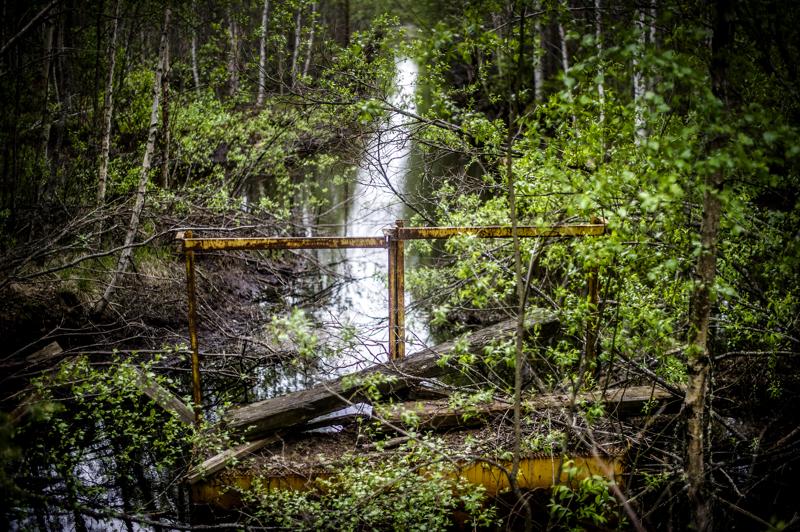 Teerinevan ojitetun suoalueen sulkuportti, jonka pitäisi estää liian suuret valumat Lestijärveen. Arkistokuva.