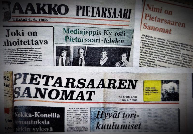 Ensimmäinen Pietarsaaren Sanomat -nimellä julkaistu lehti ilmestyi heinäkuussa 1985. Ensi helmikuussa PS muuttuu tilattavasta lehdestä kerran viikossa eli keskiviikkoisin ilmestyväksi ilmaisjakelulehdeksi ja nykyisin perjantaisin ilmestyvä ilmaisjakelulehti PS Pulssi lakkautetaan.