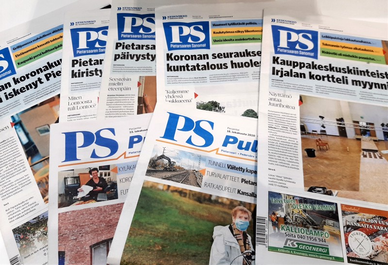 Tilattava Pietarsaaren Sanomat muuttuu kaupunkilehdeksi ensi helmikuun alusta ja alkaa ilmestyä PS Pulssin tilalla kuitenkin niin, että ilmestymispäivä on keskiviikko.