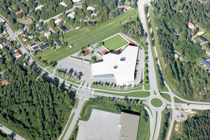 Piispanmäen monitoimitalo rakennetaan Ouluntien ja Kuokkamaantien väliin.