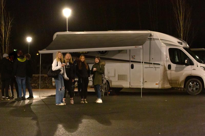 Neea Harju, Erika Sundback, Nanna Uusisalo ja Noora Hyyppä kertoivat, että Kokkolassa voi liikkua turvallisin mielin.