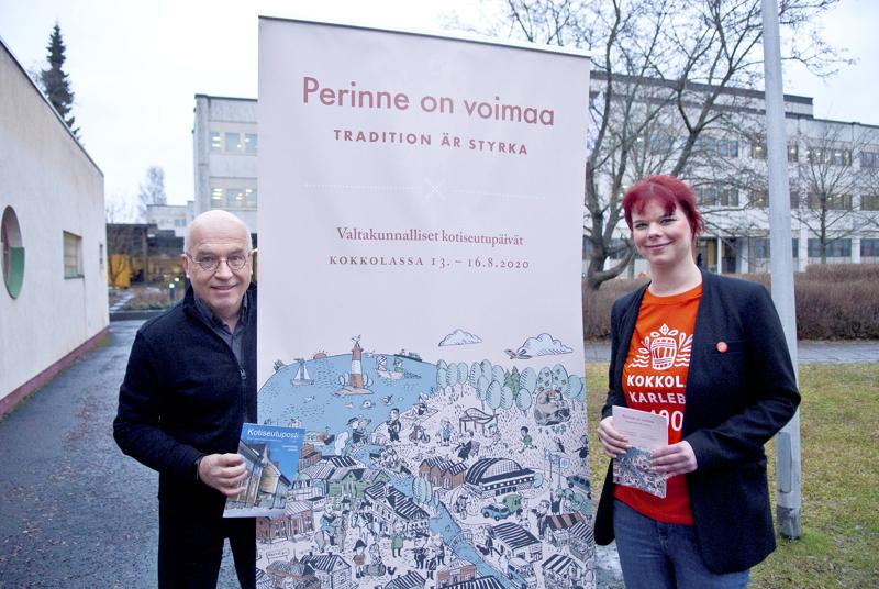 Sampo Purontaus ja Elina Perälä kertoivat alkuvuodesta kotiseutupäivien ohjelmasta. Korona muutti suunnitelmat suurilta osin.