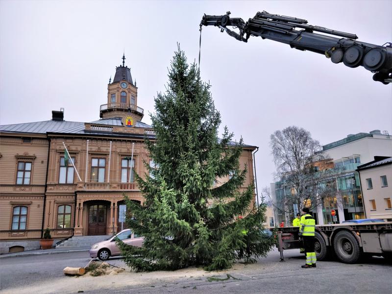 Valot torin joulukuuseen ja Usko, toivo, rakkaus -symboleihin Isonkadun ylle sytytetään lauantaina vietettäviin joulunavajaisiin.