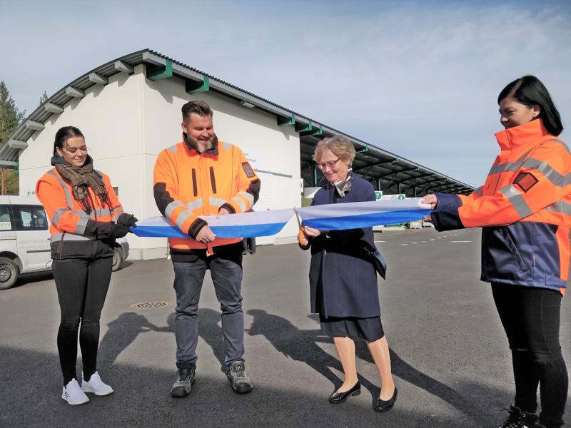Pietarsaaren uuden hyötykäyttöaseman avajaisia juhlittiin syyskuussa 2020.