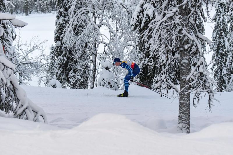 Iivo Niskanen jaksoi viidenneksi Rukan talvisissa maisemissa.
