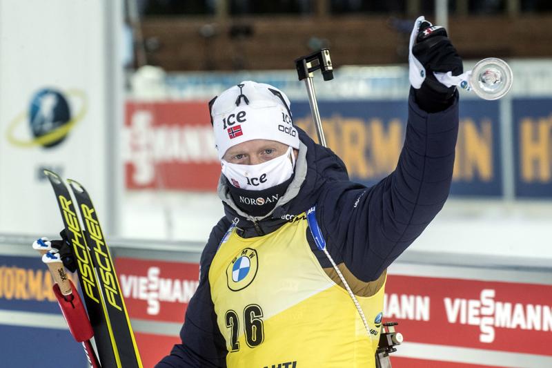 Johannes Thingnes Bö voitti sunnuntaina Kontiolahdella.