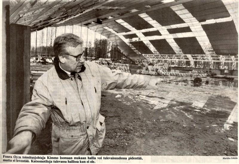 Pietarsaaren Sanomat 22. maaliskuuta vuonna 1991.