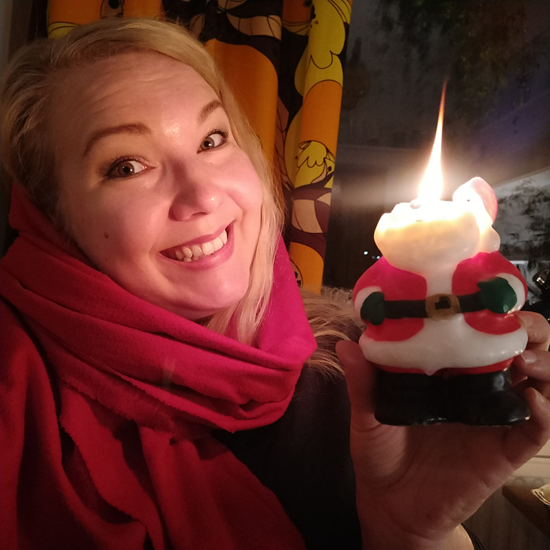 Venla Moisala viettää joulun rennosti Kalajoella.