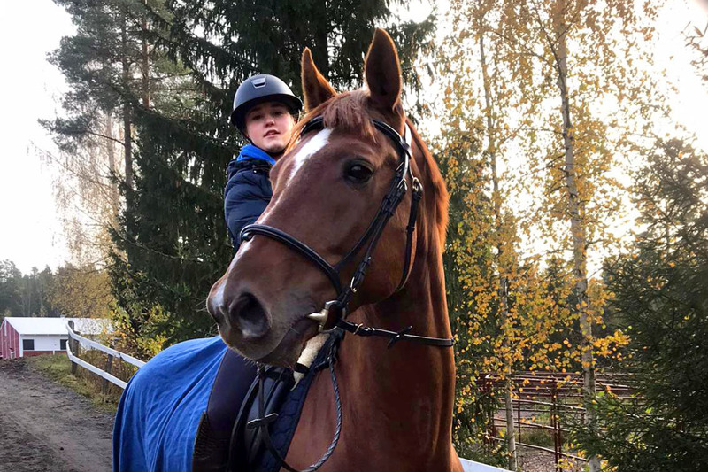 Pararatsastuksessa kilpaillaan kouluratsastuksessa. Lauran työparina on Finnmann-niminen hevonen.