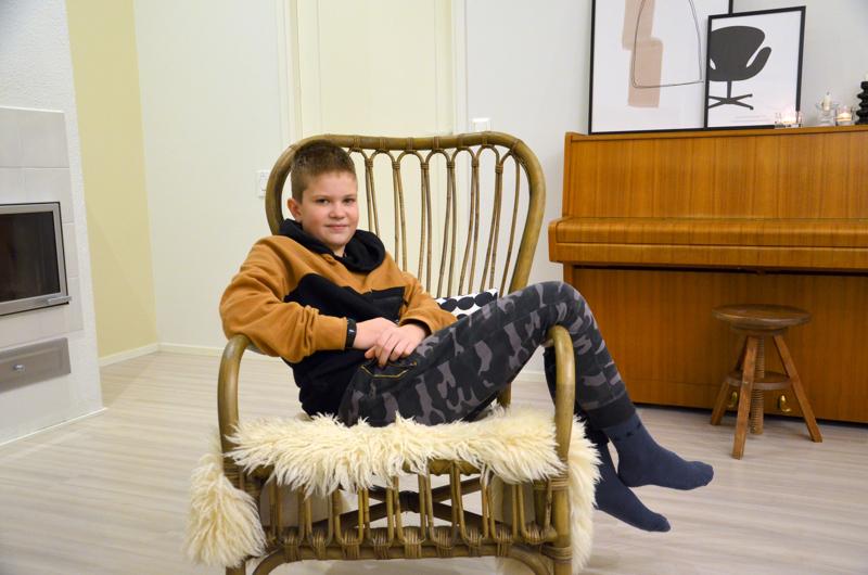 Onnea! Välikannuksessa asuva Noel Tokola sai jouluisen nimensä koska hänen oli määrä syntyä joulukuussa.