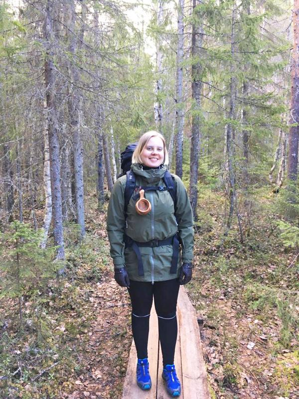 Senni Suhonen nauttii vaeltamisesta työnsä vastapainona.