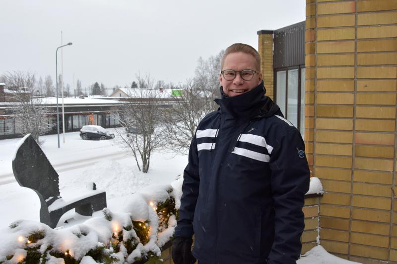 Tuttu kaupungintalo. Mikko Polet aloitti vakituisena teknisenä johtajana tammikussa.