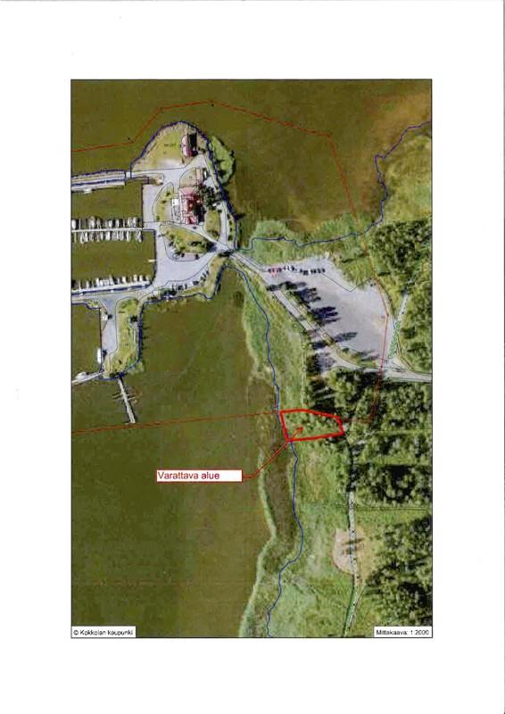 Keski-Pohjanmaan Retkimelojat ry sai paikan kajakkivajalle läheltä Mustakarin parkkipaikkaa.
