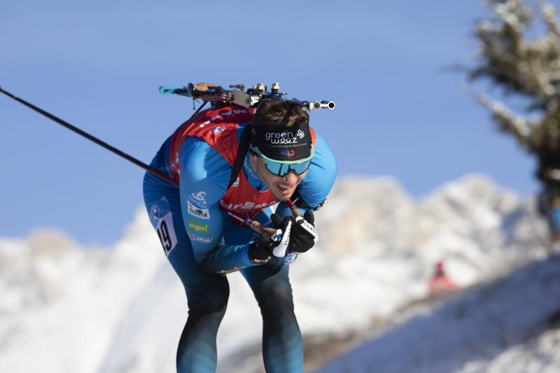 Emilien Jacquelin toi Ranskan voittajana maaliin.