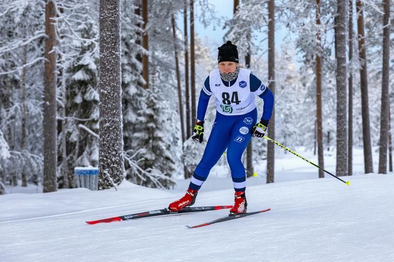 """""""Voittoa lähdettiin hakemaan ja sehän sietä tuli"""", kuittasi HaU:n Viivi Jylänki N18-sarjan ykkössijaa Nivalan Pyssymäeltä. Arkistokuva."""