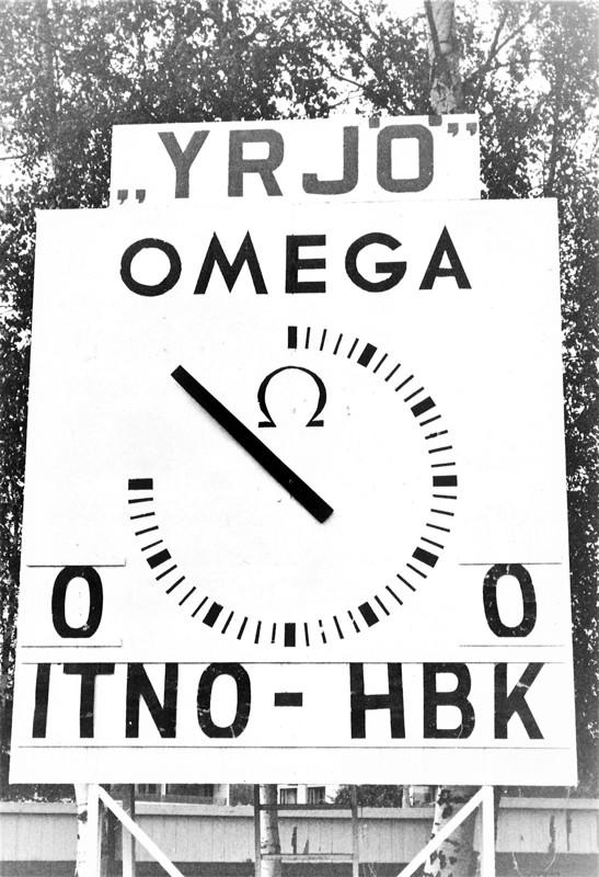 Oi niitä aikoja, kun Pietarsaaren Keskuskentällä mittasi aikaa Omega-merkkinen kello. Kellolla ottelun aikana työskentely oli nuorille kunnia-asia, silti ihan aina ei kaikki mennyt putkeen.