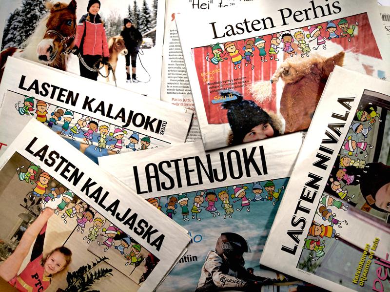 KPK Medioiden lehtien välissä tulleita lasten lehtiä.
