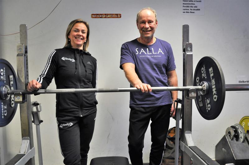 Kokkolan Jymyn Janika Kivelä ja Pekka Kovalainen ovat tyytyväisiä kehitykseensä. Molemmat treenaavat tiiviisti kohti kevään SM-kisoja.