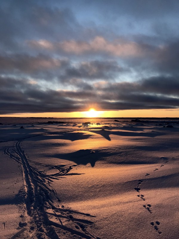 Auringonlasku Ohtakarissa.