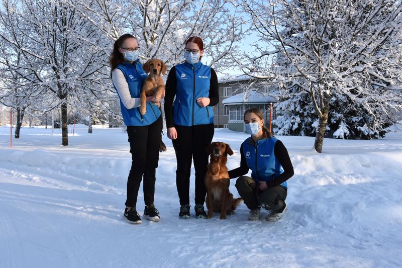 Eläintenhoidon semifinaaliin saakka.  Kannuksessa opiskelevat Milka-Maria Rasinpää (Seinäjoki), Veera Karjalainen (Oulu) ja Julia Tukiainen (Tuusula) eivät päässeet finaaliin.