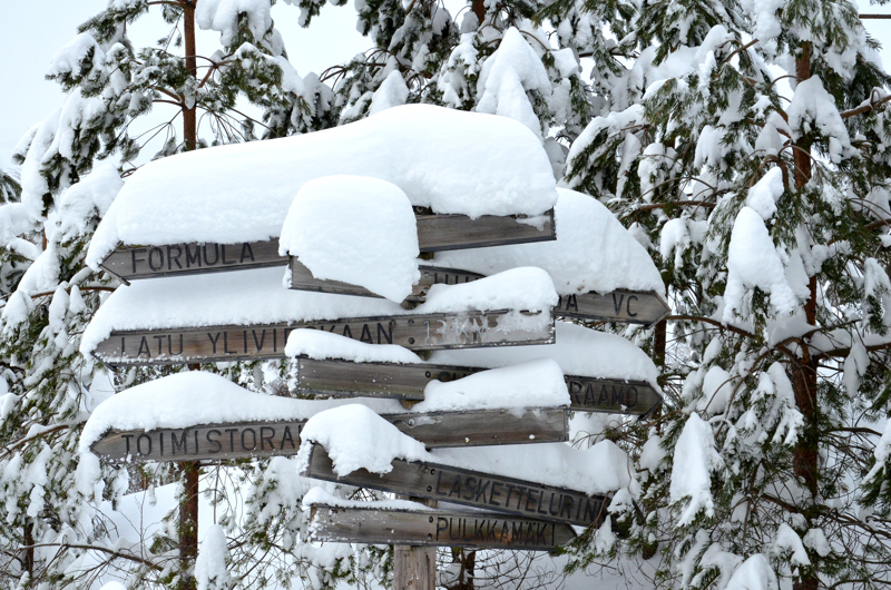 Nyt ei ole talvilajien harrastajilla puutetta lumesta. Se on näkynyt Huhmarin kävijämäärissä varsinkin viikonloppuisin ja iltaisin.