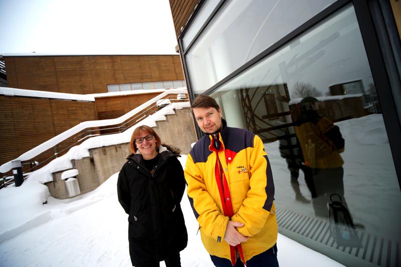 Kolmen päivän ajan KTK:lla mietittiin kulttuurista matkailutuotteita. Kuvassa työpajoja vetänyt Mari Keiski ja Unesco-listautumista valmisteleva Matti Hakamäki.