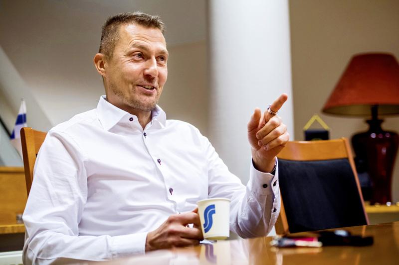 Osuuskauppa KPO:n toimitusjohtaja Kim Biskop. Arkistokuva.