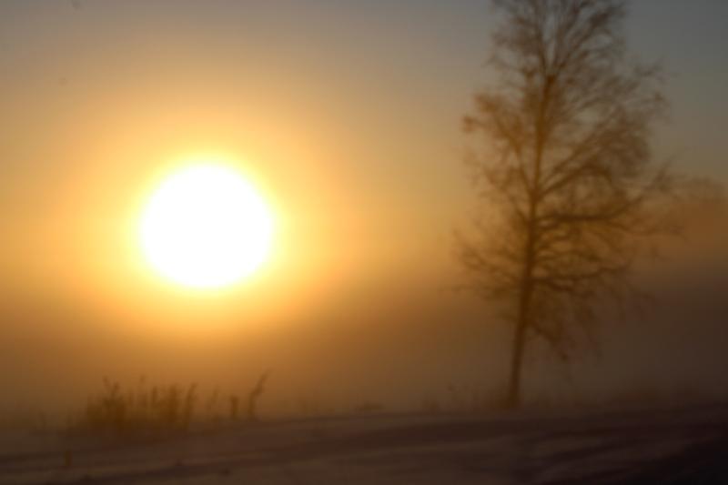 Sumu peitti auringon Hickarössa.