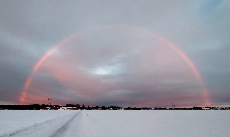 Sateenkaari Kalajoella 26.2.