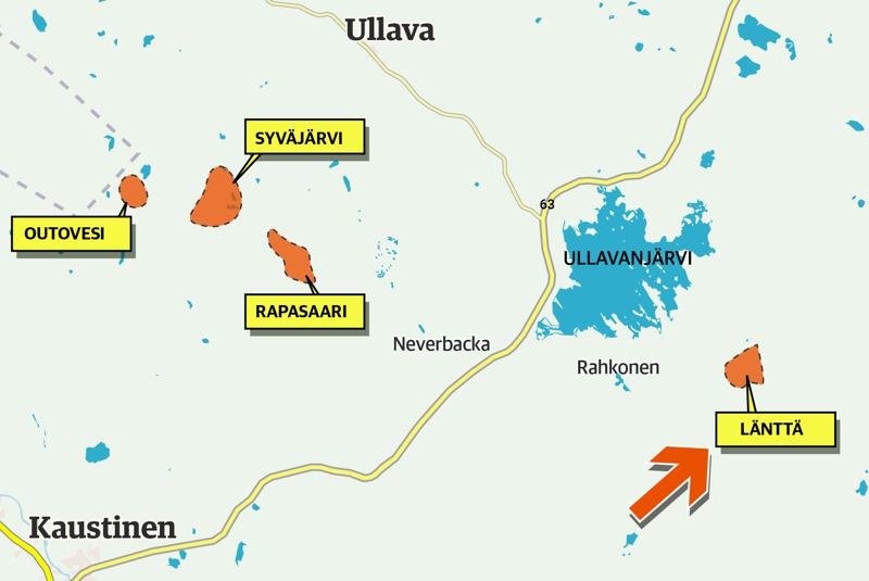 Louhosalueiden kaavatyöt on eriytetty siten, että Läntän alue viedään loppuun omana kaavatyönään, kun taas Rapasaaren, Syväjärven ja Outoveden sekä mahdollinen Päivänevan rikastamon alue viedään maaliin omanaan.