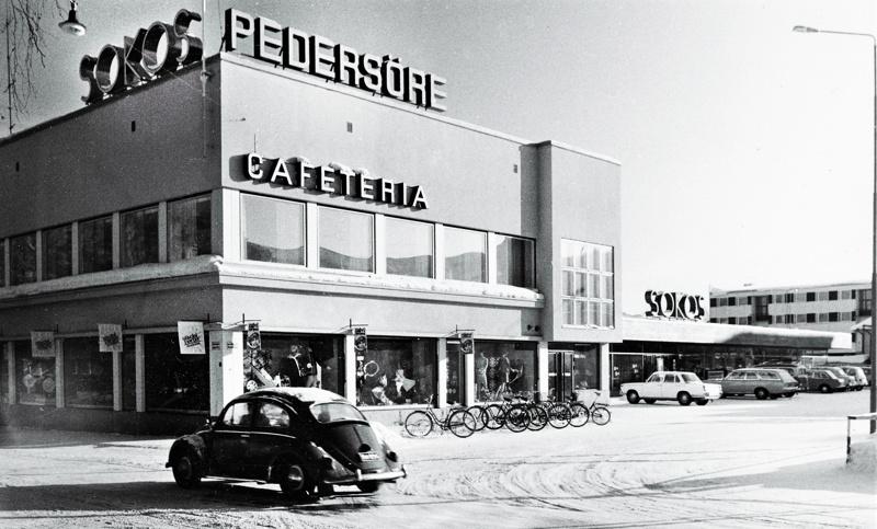 Kuva Kauppiaankadun ja Runebergin kulmauksesta luultavasti varhaiselta 1970-luvulta.