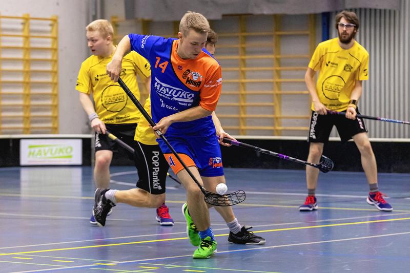 HaBan kolmanneksi paras pistemies Eemil Taskila kerkesi hassuttaa seitsemässä ottelussa kymmenen pisteen verran vastustajaa. Arkistokuva.