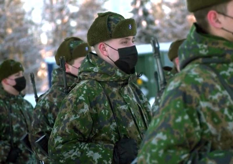Eetu aloitti armeijan Rovaniemellä tammikuussa.