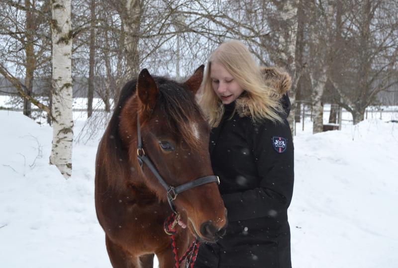 Sandra Soininen on puuhastellut hevosten kanssa pienestä pitäen. Mc Mentalist on yksi Soinisen perheen omista hevosista.