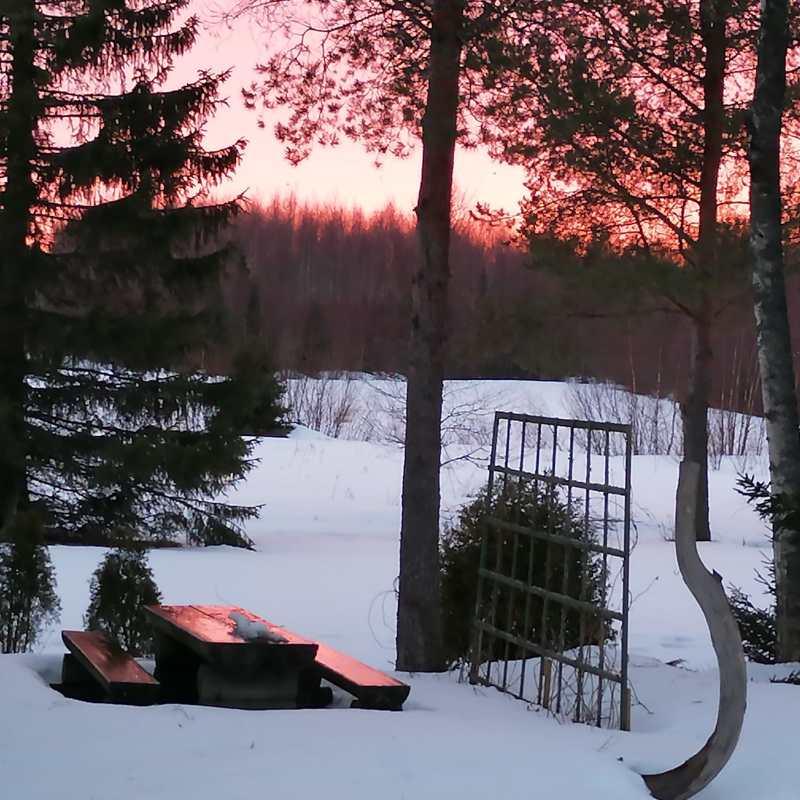 Ilta-aurinko Kruunupyyssä.