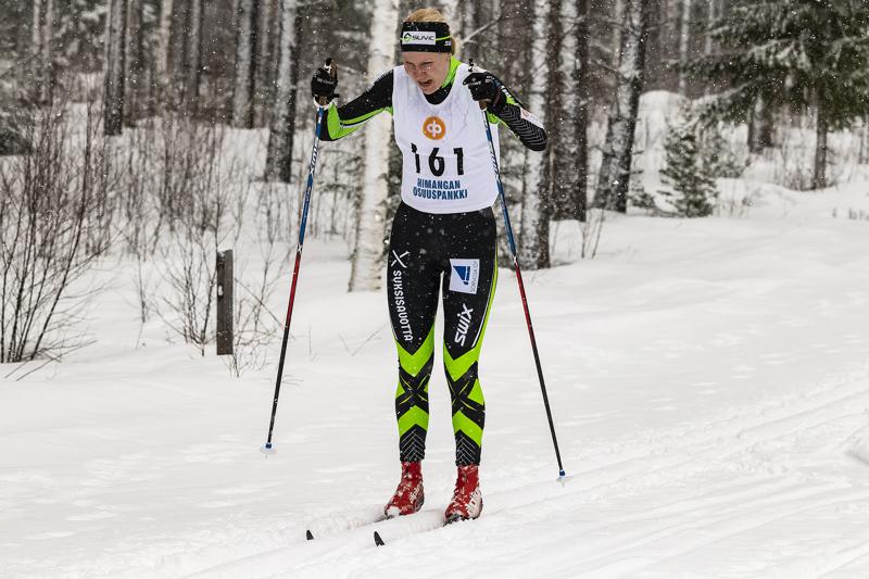 Roosa Juuska ei ollut tyytyväinen omaan kisa-avaukseensa Ristijärven SM-hiihdoissa. Arkistokuva Kaija Partanen.