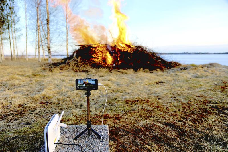 Tältä näytti viime pääsiäisen kokkolive-lähetys. Kokkovideota on katsottu pian 4000 kertaa.