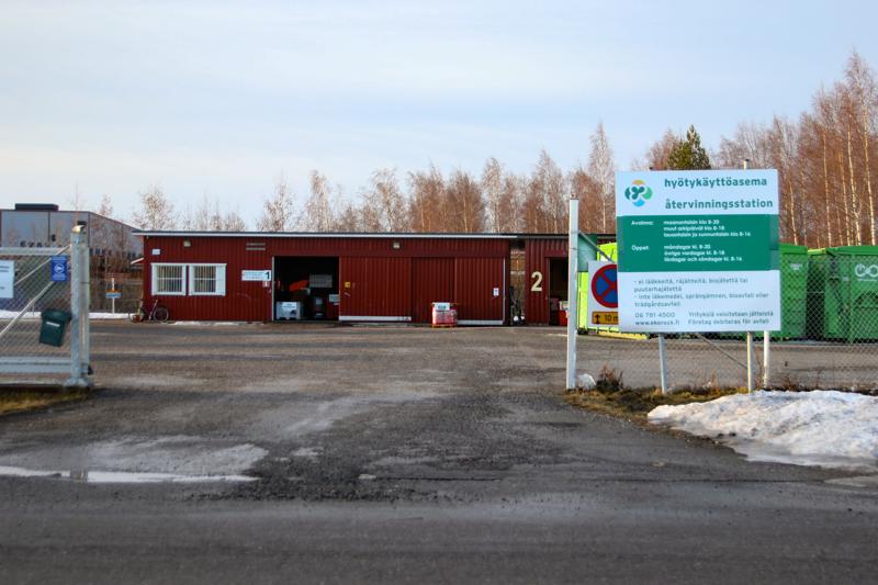 Kokkolan hyötykäyttöasema sijaitsee Mottisessa.